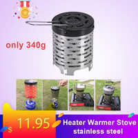 Portable Outdoor Camping Gas Heater Warmer Stove Heating Cover Outdoor Camping Equipment Fishing Hunting Stainless Steel