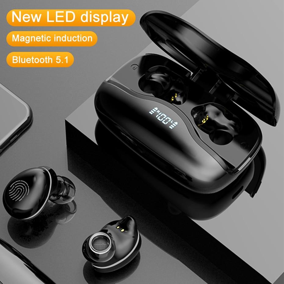 Светодиодный дисплей Bluetooth наушники беспроводные наушники 3500 мАч зарядная коробка спортивные TWS стерео вкладыши водонепроницаемый шумопод...