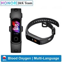 Huawei Honor band 5i Smart Band Tracker di ossigeno nel sangue smartwatch tracker della frequenza cardiaca Tracker del sonno controllo della musica promemoria chiamate