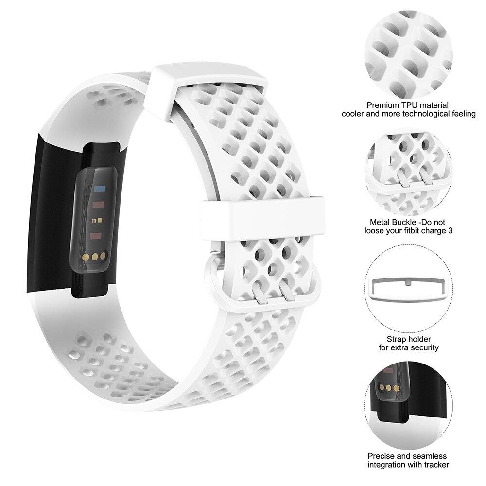 Мягкий силиконовый ремешок для наручных часов fitbit charge
