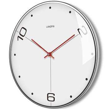 Nordic Big Wall Clock Metal Silent Living Room Bedroom Hanging Watches Klokken Wandklokken Home Decoration Modern Design DD45WC