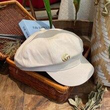 Hats Newsboy-Hat Octagonal-Cap Beret Designer Womens Fashion Cotton Solid Classic Artist