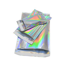 wholesale Laser Self Sealing Plastic Envelopes Mailing Storage Bags Holographic Gift Jewelry Poly Adhesive Courier Packaging Bag