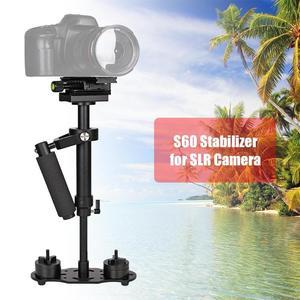 Image 2 - S60 mini estabilizador de mão, para câmera de vídeo, anti balanço, steady, para dslr, acessórios para câmera de fotografia, estabilizadores, adereço de câmera
