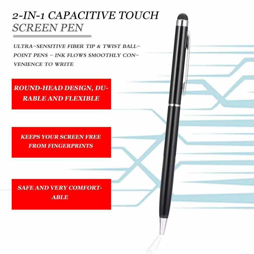 2 で 1 多機能プロファインポイントラウンド薄型先端タッチスクリーンペン容量性スタイラススマートフォンタブレットのための iphone 用 ipad 用