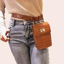 Mododiino jacaré cinto sacos de cintura feminina saco de cintura de couro do plutônio pacote de cintura senhoras bolsa de ombro de luxo fanny saco pequeno telefone dnv0277