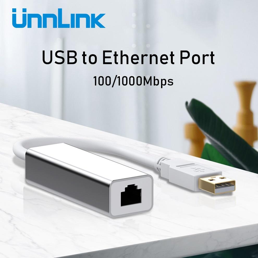 Unnlink USB Ethernet Adapter USB 2.0 3.0 100/1000Mbps Gigabit RJ45 Lan USB Network Converter for Computer Laptop Notebook Mi Box 1
