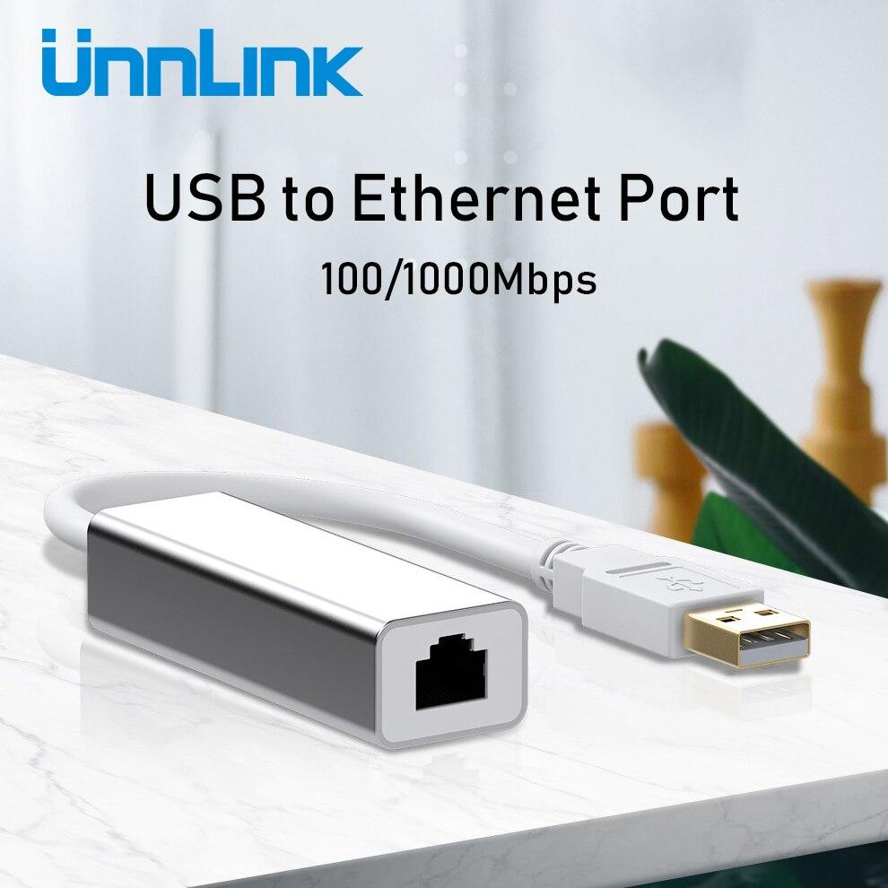 Unnlink USB Ethernet Adapter USB 2.0 3.0 100/1000Mbps Gigabit RJ45 Lan USB Network Converter For Computer Laptop Notebook Mi Box