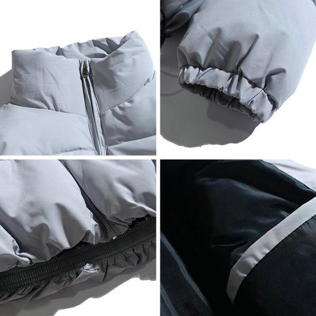 2021 Winter Coat Men's Warm Parkas Streetwear Cotton Coats Slim Male Jackets Solid Windproof Padded Coat Mens Clothing 4