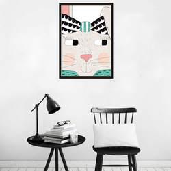 Мультяшное животное детская декоративная живопись для комнаты Core современный минималистичный Североевропейский стиль хипстер вешается