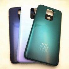 สำหรับ Redmi 10X 4G แบตเตอรี่ฝาหลังสำหรับ Xiaomi Redmi หมายเหตุ9ฝาหลังแบตเตอรี่ด้านหลังที่อยู่อาศัยด้านข้าง