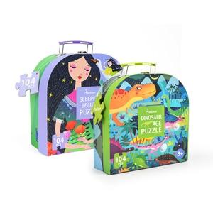 Image 3 - MiDeer 104pcs חידות לילדים פאזל צעצוע תינוק של רוחני פאזל שילוב נייר פאזל לילדים מתנות תיבת 3 6Y