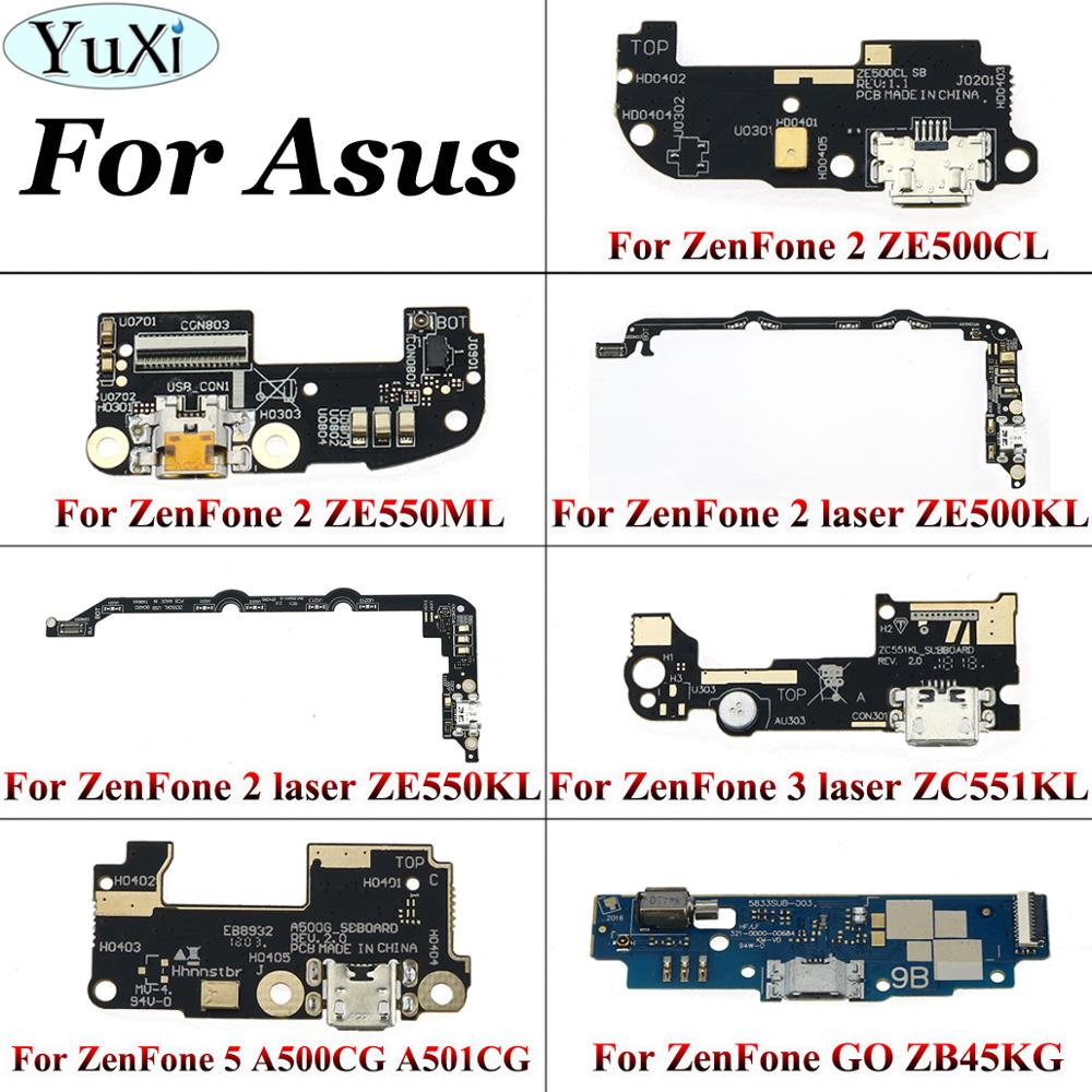 YuXi For ASUS ZenFone 2 3 5 GO USB Charging Port Plug Dock Mic Microphone Board Flex Cable For 2 2 Laser ZE550KL ZE500KL ZE550ML