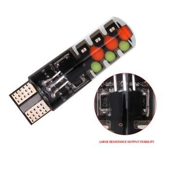 2 #215 5050 SMD RGB LED T10 W5W 194 168 Auto boczne światło nastrojowe w samochodzie wielokolorowe diody LED żarówka demonstracyjna z pilotem do samochodu tanie i dobre opinie CN (pochodzenie) Klirens lights T10 (W5W 194) 12 v WHITE Uniwersalny 1 3W