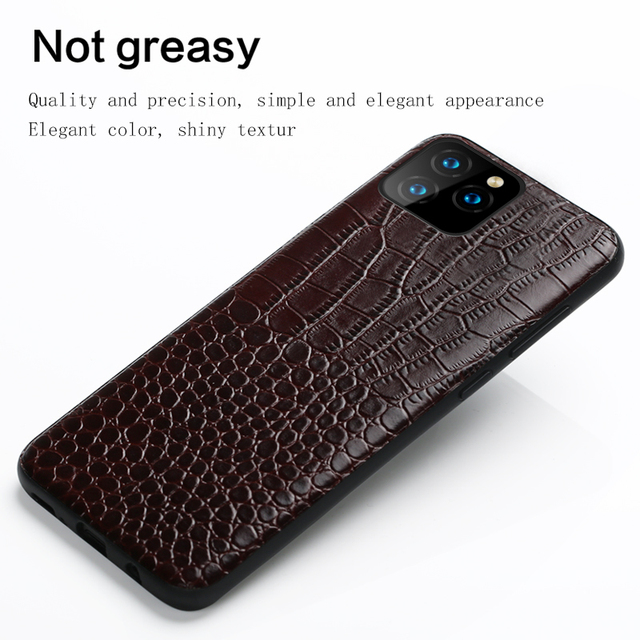 LANGSIDI Genuine Leather phone case for iphone 11 pro max Luxury Shockproof cover for Apple iphone XR X 8 7 6s XS Plus Fundas 3