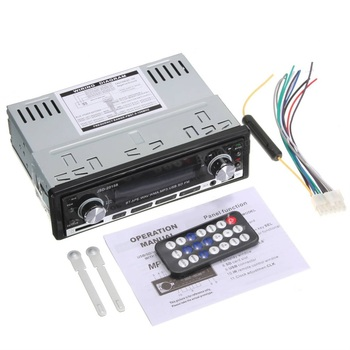 New 12V 60w Car Stereo FM Radio MP3 Audio Player Support Phone with USB/SD MMC Port Car Electronics In-Dash 1 DIN