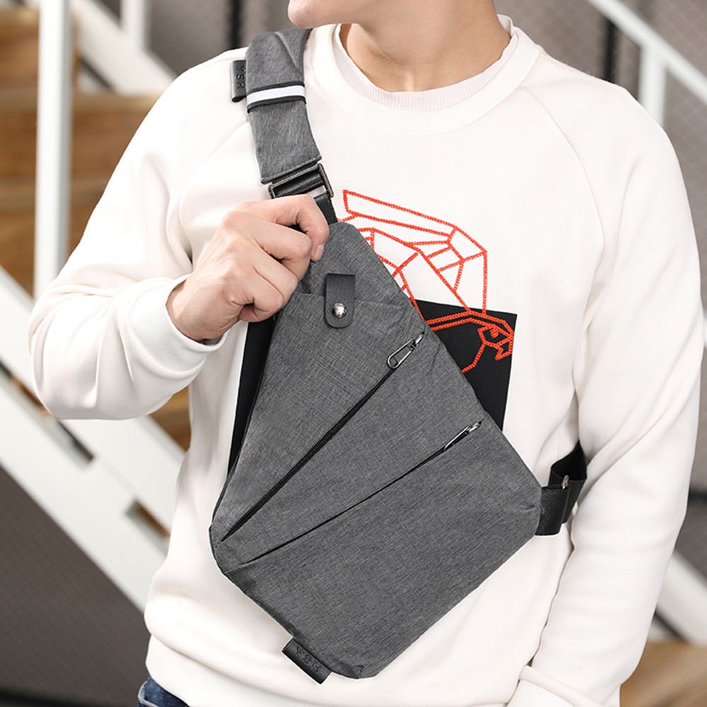 New Fashion Men Women Bag Sling Casual Canvas Chest Bag Simple Single Shoulder Bag For Men Anti Theft Crossbody Bags Sac A Main