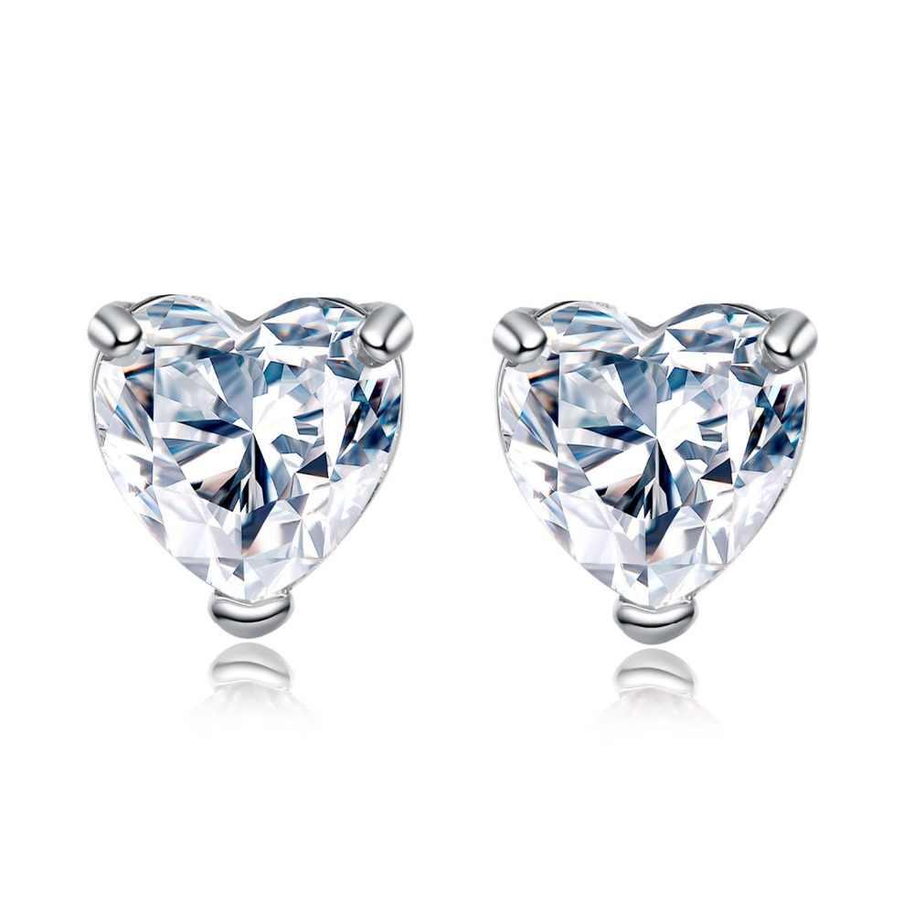 925 סטרלינג תכשיטי כסף סט halo אירוסין טבעת עגול stud עגיל לחתונה חג מולד חג האהבה מתנות מסיבת J4921