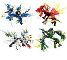 115pcs Ninja Dragon Knight Model Building Blocks Compatible KAI JAY ZANE Figures Bricks toys for children boy friends ninja the green nrg dragon lepin 06036 model building kits figures blocks bricks toys compatible with 70593 618pcs