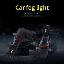 2Pcs H1/H3/H4/H7/H8/H9/H11/9005/9006 NEW Car LED Fog Light Bulbs 1860 60W 6 LED SMD Fog Lamp Automobile Headlamp 12V 6500K 2pcs rgb led car headlight 9005 9006 h11 h7 5050 led 27 smd automobile fog light head lamp bulb with remote control car styling