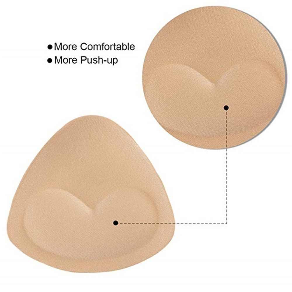 ชุดว่ายน้ำผู้หญิงฟองน้ำโฟม Push Up Enhancer ทรวงอกถ้วยหนาบิกินี่ชุดว่ายน้ำแทรกสามเหลี่ยม Bra Pad Breast Lift UP