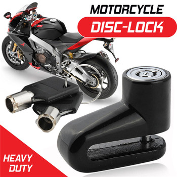 Black Motorcycle Bike Scooter Disc Lock Padlock Keyed Motorcycle Scooter Anti-theft Brake Disc Lock Motorcycle Security Lock anti lock braking system for qj keeway chinese scooter brake caliper honda yamaha kawasaki motorcycle atv moped scooter abs part
