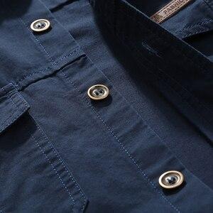 Image 5 - VINRUMIKA 2020 Plus size M 5XL Autumn mens casual brand army green long sleeve shirt man spring 100% pure cotton khaki shirts