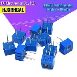Potenciômetro aparador, 3362p série resistência 101 201 501 102 202 502 103 aparpo 3362 500r 1k com 10 peças 2k 5k 10k 20k 50k 100k