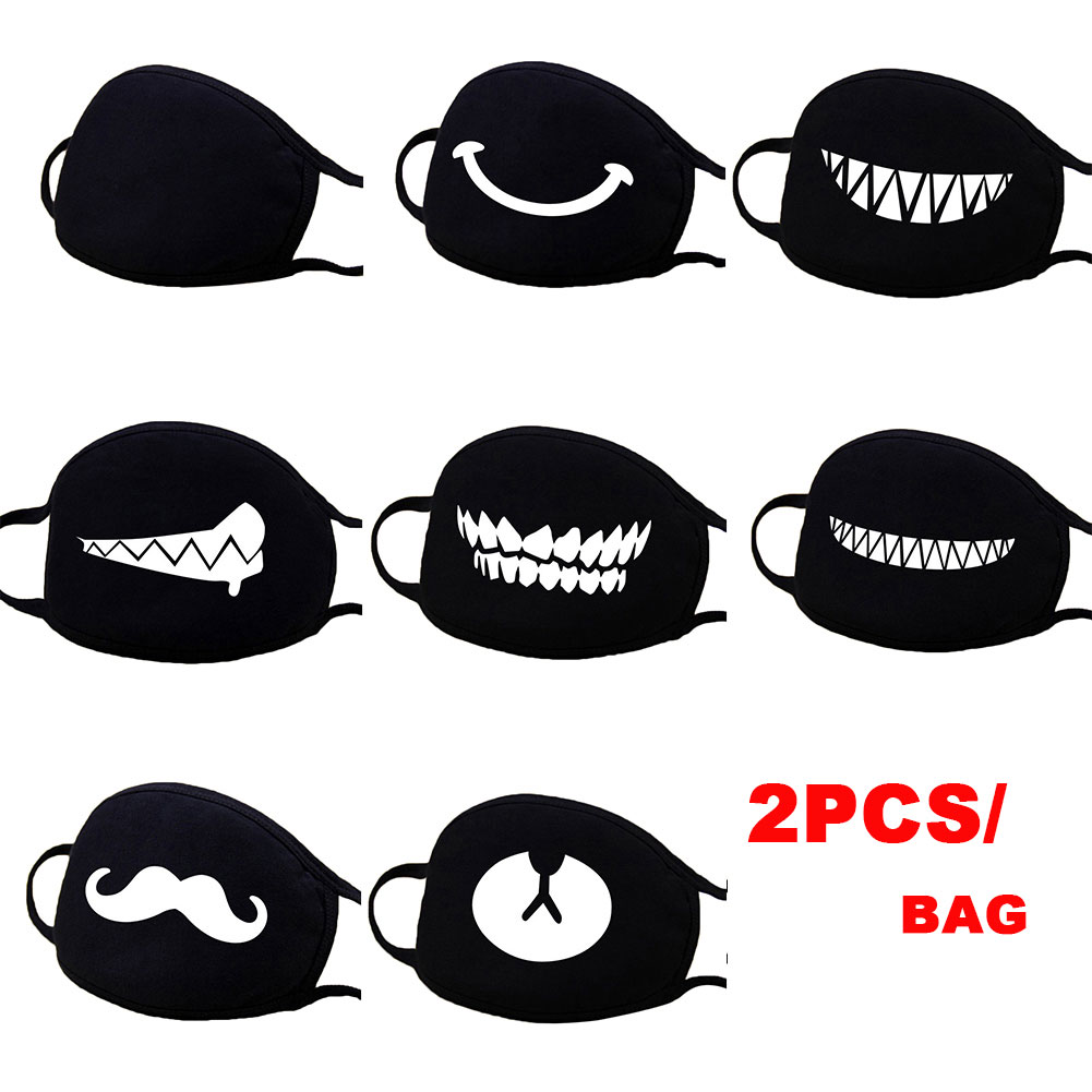 2pcs Stop Air Pollution Home Cartoon Lovely Cotton Masks Keep Warm Women Clothing Accessories Camouflage Mouth Muffle Respirator