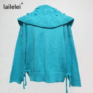 Image 2 - Sweet Cropped Cardigan Lazy Oaf Winter Sweater Women Korean Cute Kawaii Knitted White Autumn 2019 Jersey Mujer Casual Blue Kazak