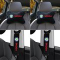 Автомобильные аксессуары для skoda octavia fabia rapid yeti Kodiaq, превосходный ремень безопасности, наплечная подушка, защитная подушка для поддержки шеи