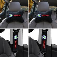 Skoda octavia fabia rapid yeti kodiaql – coussin d'épaule pour ceinture de sécurité, coussin de Protection du cou, accessoires automobiles