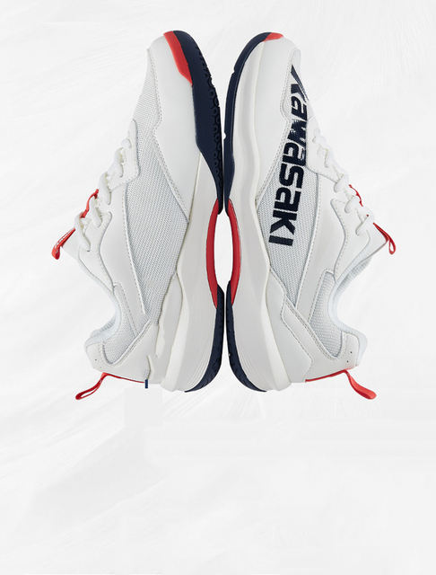 White Court Shoes for Badminton Kawasaki K-169D
