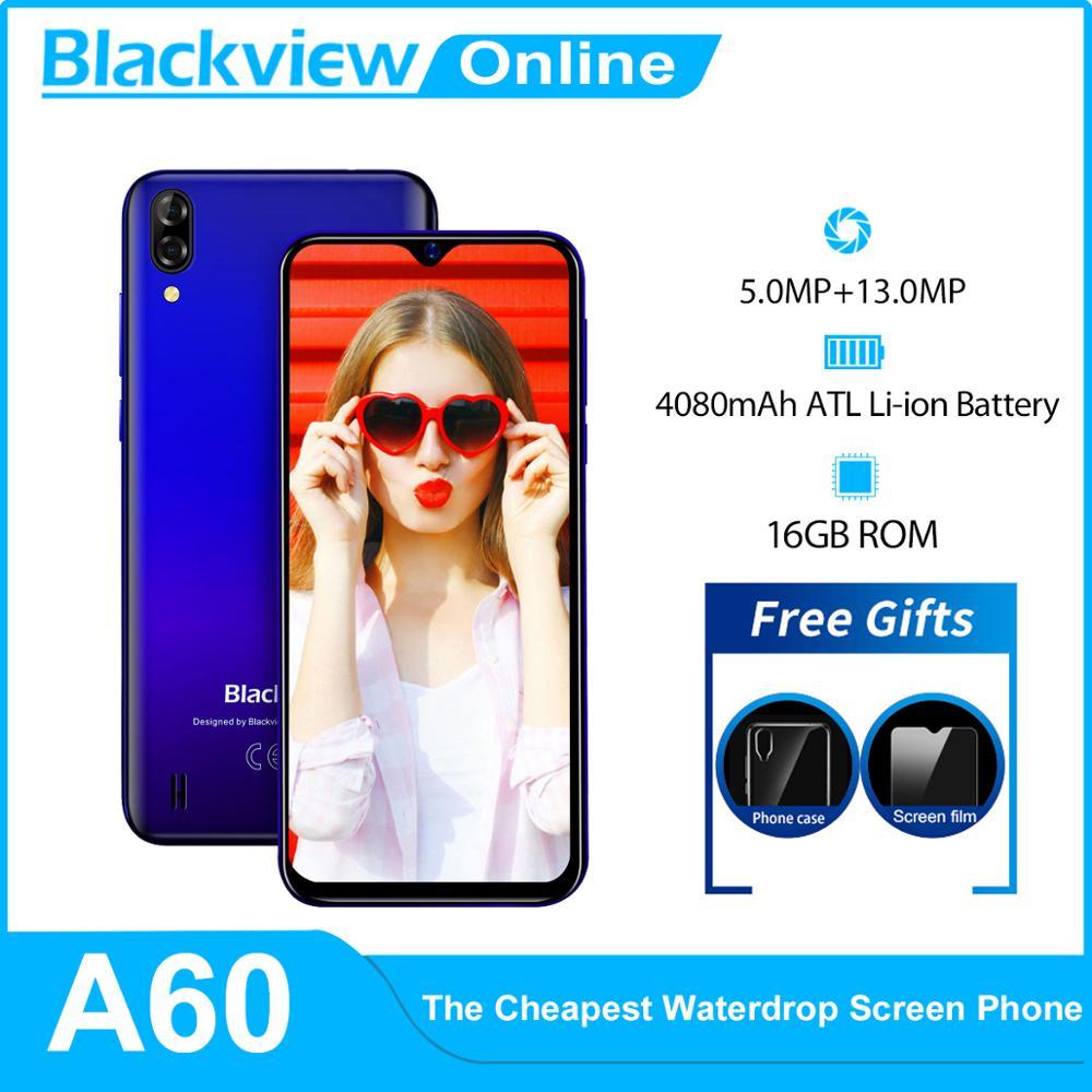 Blackview A60 3G Smartphone 16GB GSM/WCDMA Quad Core 13MP New 4080mah-Battery Dual-Sim