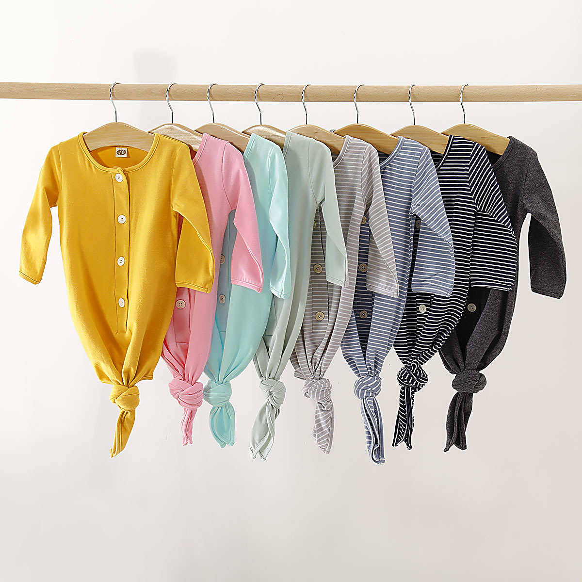 Small Infant Children's Clothing Pajamas Eight-Color Pure Cotton Sleeping Bag Romper