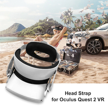 Adjustable Head Strap with Memory Foam Pad Cushion Leather Foam Cushion Belt VR Accessories for Oculus Quest 2 VR Headset