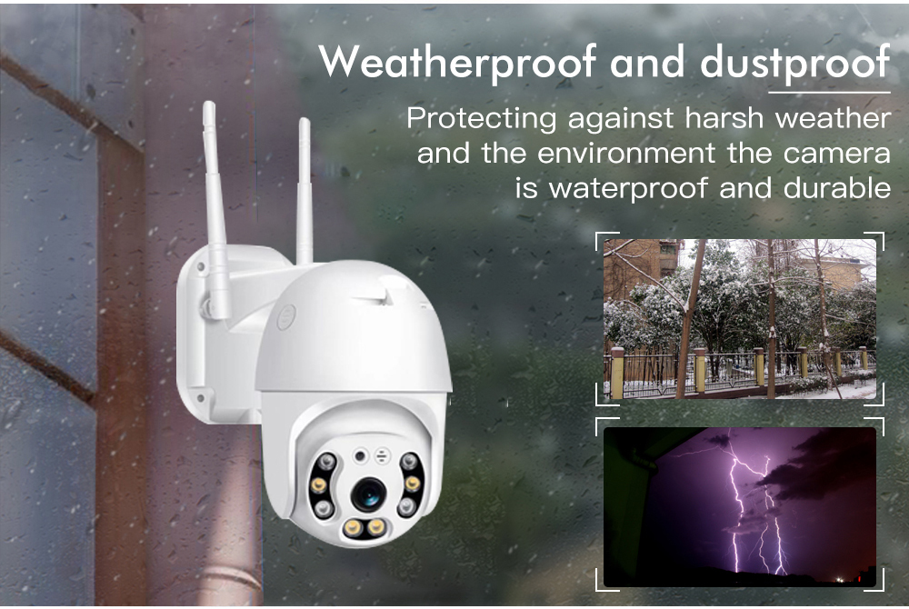 Hbfefb50a5a194e0c860c5556ea96f1594 SDETER 1080P PTZ Security WIFI Camera Outdoor Speed Dome Wireless IP Camera CCTV Pan Tilt 4X Zoom IR Network Surveillance 720P