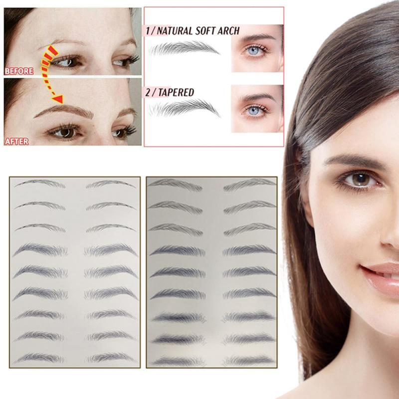 9 Style 4D Eyebrow Stickers Semi-permanent Tattoo Eyebrow Waterproof Lasting Water Transfer Imitation Bionic Brow Stickers TSLM1