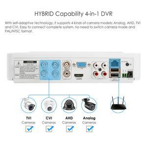 Image 4 - ZOSI système de caméra vidéo 4 en 1 HD, 5MP, 4 canaux, AHD CVBS CVI TVI, détection de vision nocturne, système de vidéosurveillance, caméra pare balles, Kit DVR