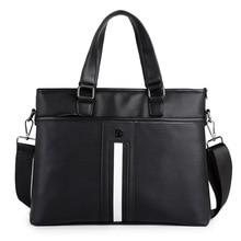 Large Capacity Men Briefcase Bag PU Luxury Business Laptop Document Case Messenger Bags Office Handbag Shoulder