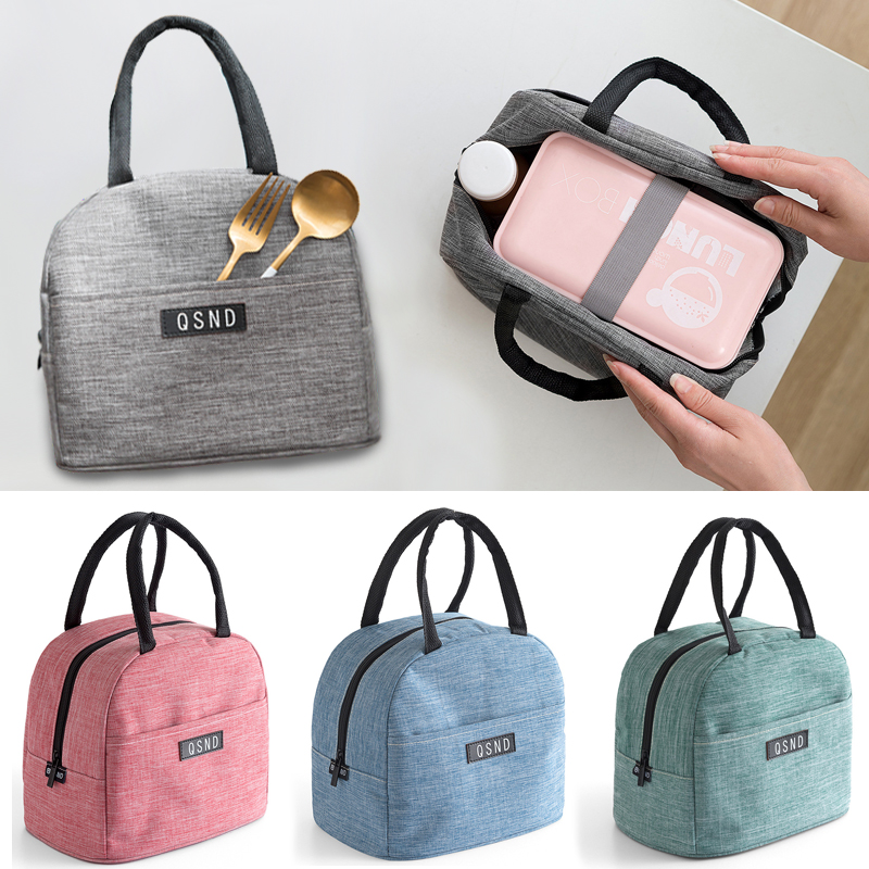 Lunch Box Bag Female Insulated Bag Lunch Bag Student Handbag With Rice Bag Functional Pattern Cooler Cute Portable Thermal