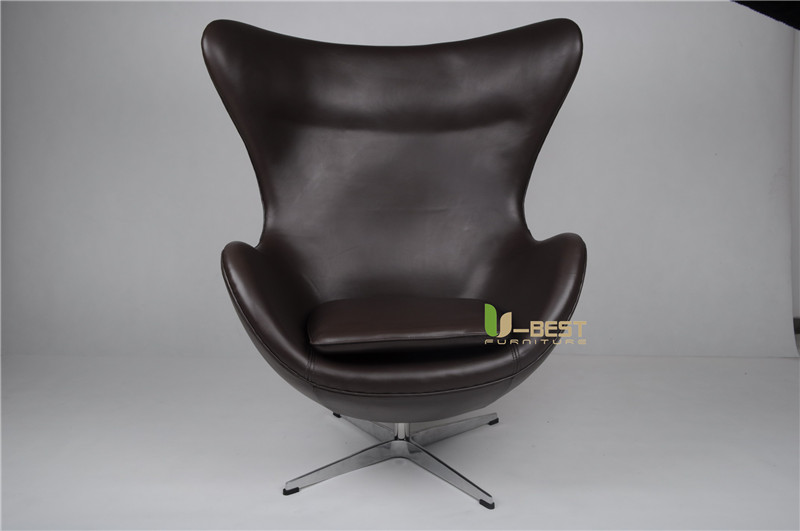 arne egg style egg chair in black leather (1)