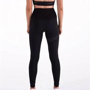 Image 5 - Женские спортивные штаны для фитнеса, эластичные спортивные Леггинсы для тренировок, облегающие спортивные штаны для бега, однотонные тренировочные брюки