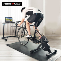 Thinkrider POWER Bike Trainer MTB Road Bicycle Built-in Power-Meter ZWIFT PerfPro preset 5% slope race warm up no need power