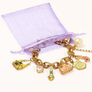 Image 3 - 50 Stks/partij 7X9Cm Wit Sieraden Verpakking Drawable Organza Tassen Wedding Gift Bags Bruiloft Benodigdheden