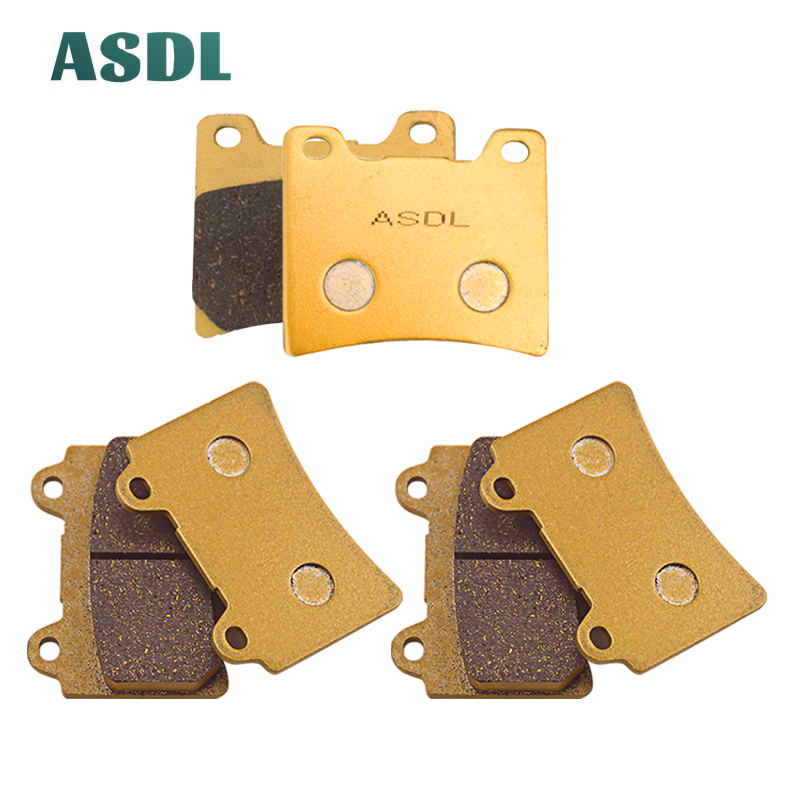 Motorcycle Front and Rear Brake Pads For Yamaha <font><b>FZ</b></font> <font><b>750</b></font> FZR <font><b>750</b></font> TDM 850 FZR 1000 Genesis FJ 1200 A (ABS model) XJR 1200 #b image