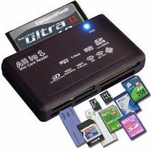 Leitor de cartão de memória tudo-em-um para usb externo mini sd sdhc m2 mmc xd cf