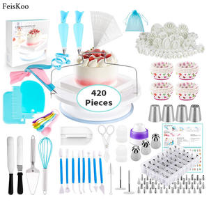 Kit Baking-Tools-Set Cupcakes Icing-Tips 420pcs Pastry-Bag Nozzle for Coupler-Cream-Nozzle
