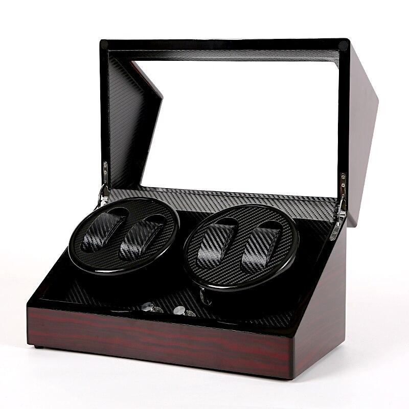 4 Automatic Watch Winder Box Watches Storage Jewelry Holder Display PU Leather Ultra Quiet Shaker Motor WatchWinding Box