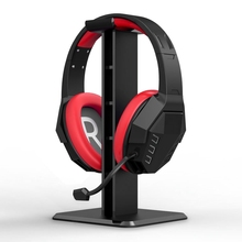 Headphone Holder ABS Stand Lightweight Stable Desktop Bracket With Sticker For Gaming Headphones Headsets, Black